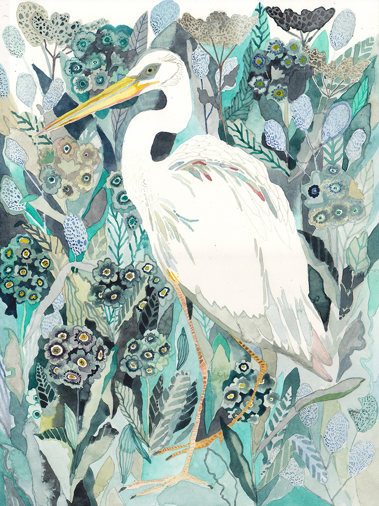 White Heron by Michelle Morin