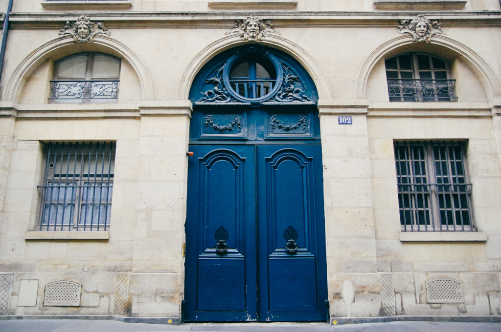 Parisian Door in Blue