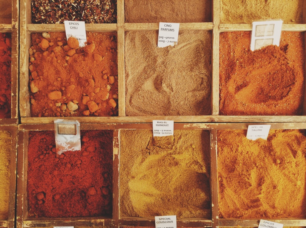 Colorful spices at the Market