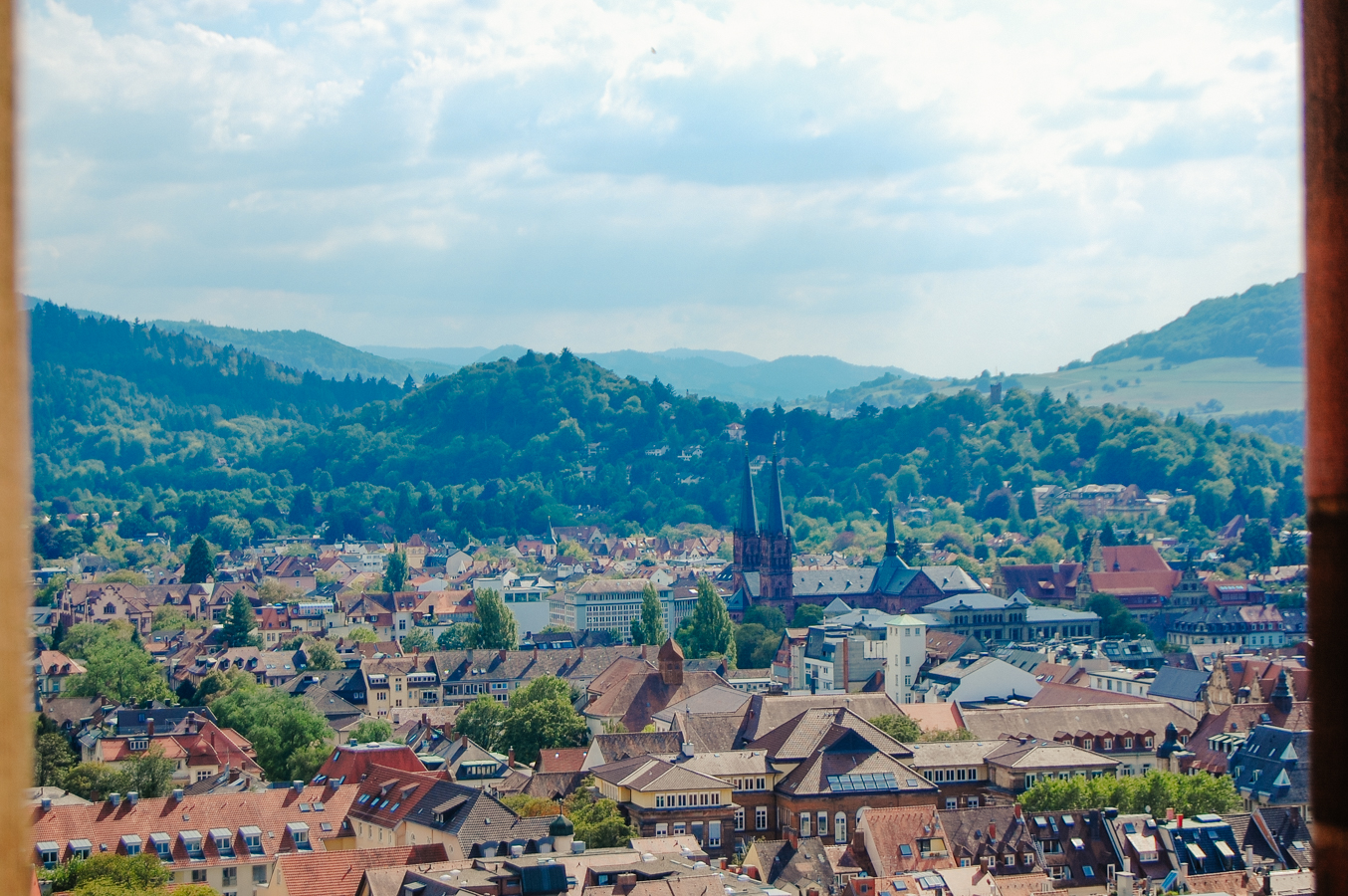 View over Freiburg, Germany