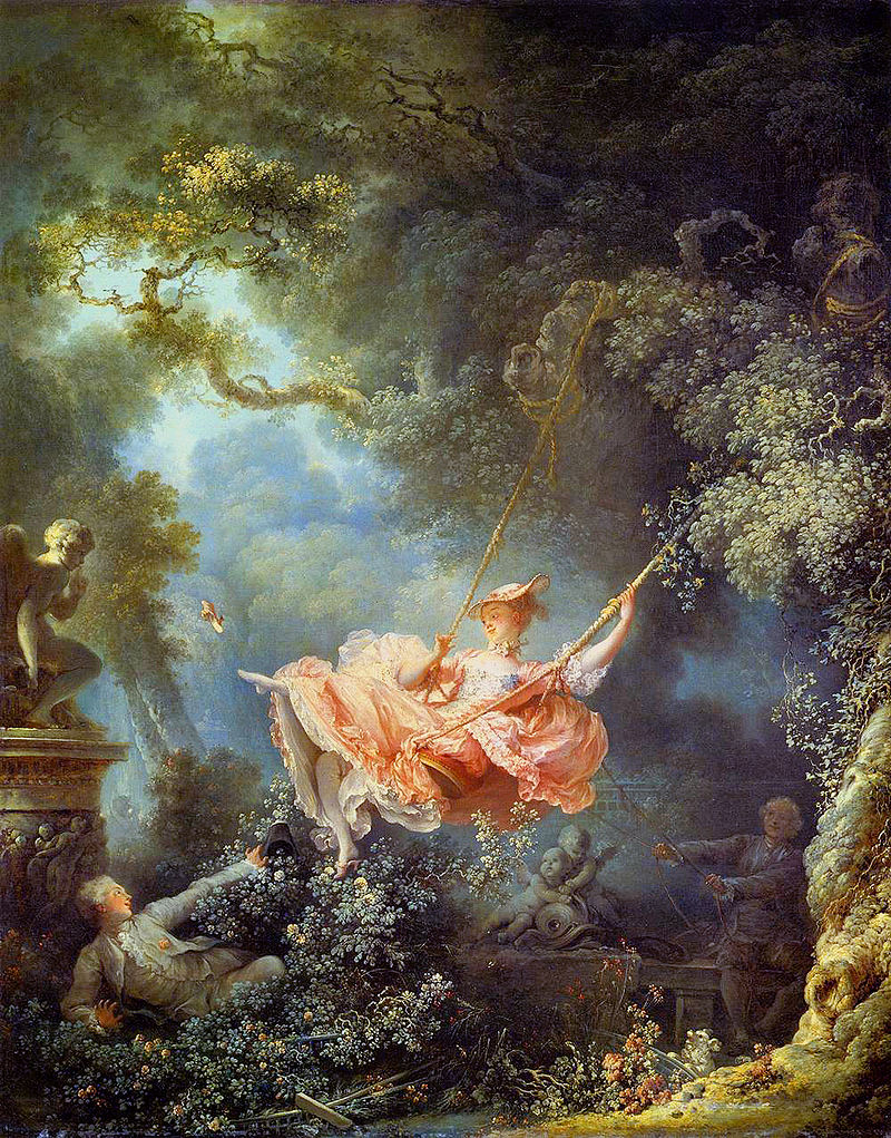 The Swing, Jean-Honoré Fragonard (1767).