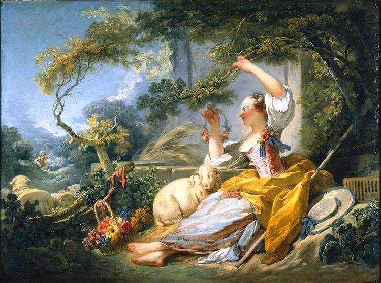 The Shepherdess, Jean-Honoré Fragonard (1752).