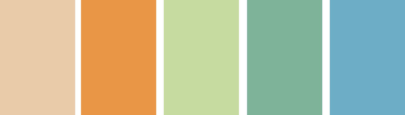 Santa Barbara Mission Color Palette